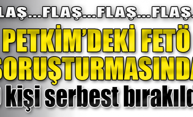 Petkim'deki FETÖ Soruşturmasında 9 Kişi Serbest Bırakıldı