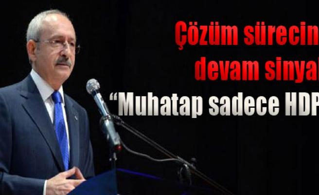 'HDP ile Devam Edilir'