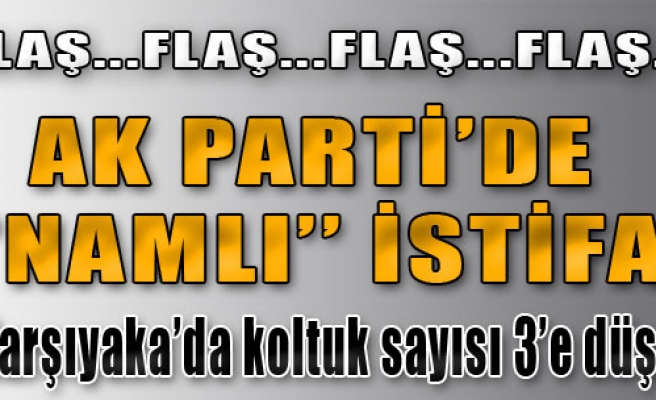 AK Parti'de Namlı İstifa