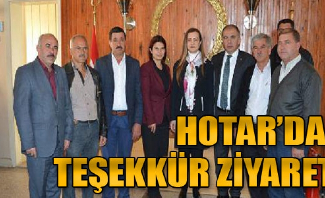 Hotar'dan Teşekkür Ziyareti