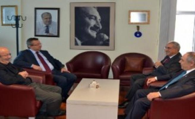 CHP'den DSP'ye Ziyaret