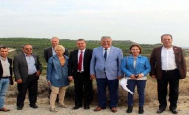 CHP'li Vekiller İmara Karşı Bozcaada'da