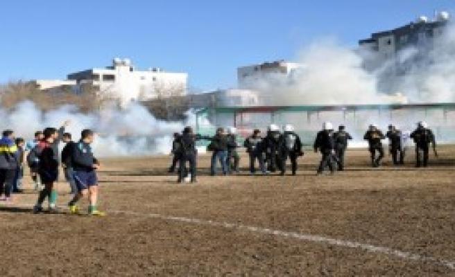 Cizre'de Amatör Maçta Olaylar Çıktı