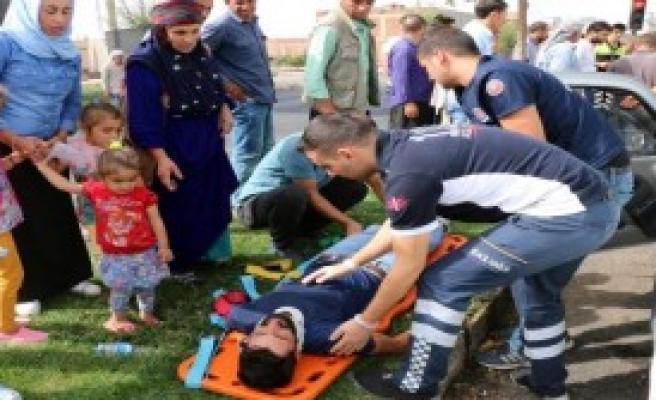 Çocuklar Yaralıya Müdahaleyi Korkuyla İzledi