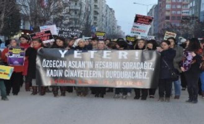 Çorum'da Özgecan Arslan Cinayeti Protesto Edildi