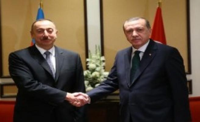 Erdoğan, Aliyev İle Görüştü