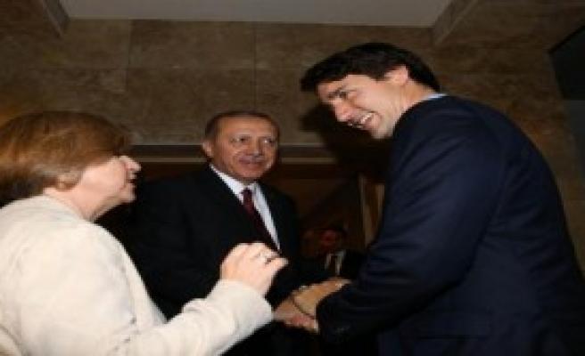 Cumhurbaşkanı Erdoğan, Kanada Başbakanı Trudeau'yu Kabul Etti