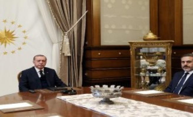 Cumhurbaşkanı Erdoğan, Mit Müsteşarı Fidan'ı Kabul Etti