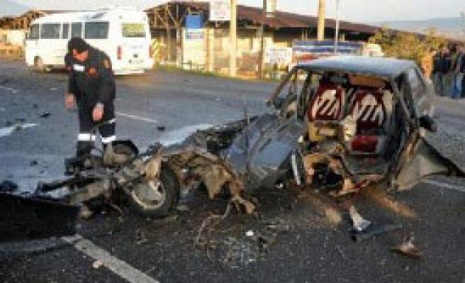 Turgutlu'da Kaza: 4 Yaralı