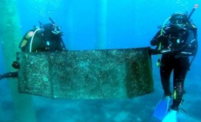Denizden 3 Ton Çöp Çıktı