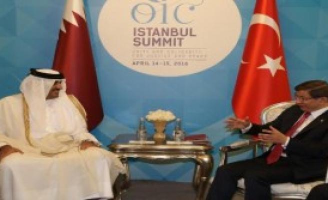 Davutoğlu, Katar Emiri İle Görüştü