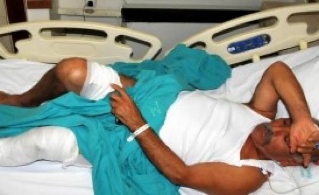 Domuzun Saldırdığı Emekli Yaralandı