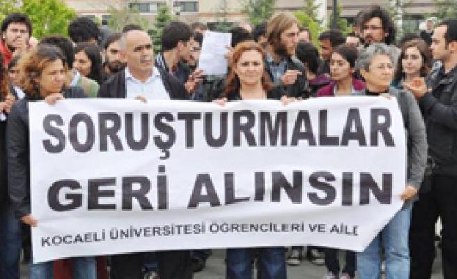 Üniversiteliler Gözaltı ve Soruşturmaları Protesto Etti