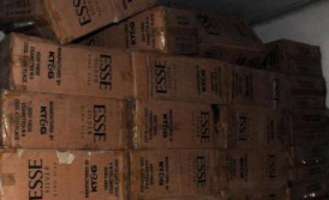 63 Bin 640 Paket Kaçak Sigara Ele Geçirildi