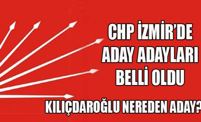 İzmir'den Aday Adaylarının Sayısı Netleşti