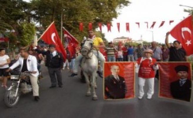Edirne'de 2 Bin Kişilik Terör Yürüyüşü