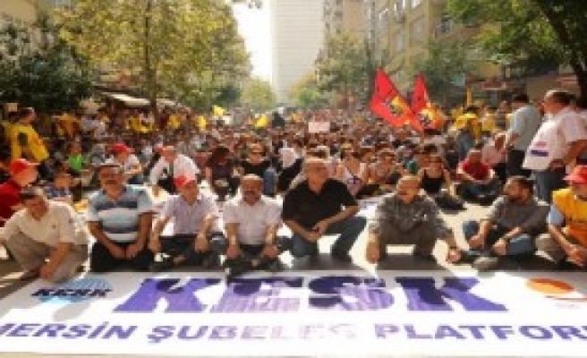 Eğitimciler  Kobani İçin Yürüdü