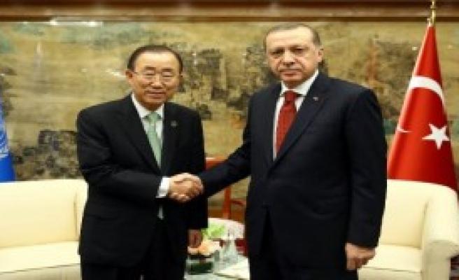 Erdoğan, Ban Ki-Moon'la Görüştü