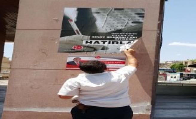 Erdoğan'dan Önce MHP Afişleri Söküldü