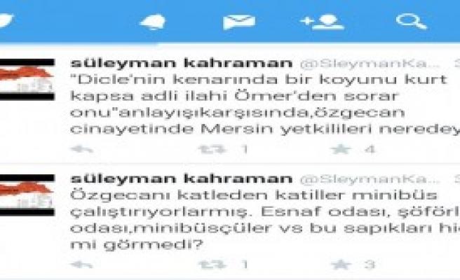 Erzincan Valisi'nden Özgecan Tweeti