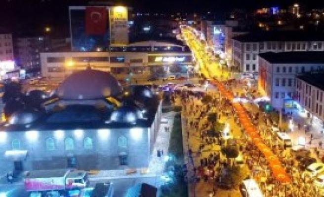 Erzurum'da Bayraklı, Meşaleli Yürüyüş