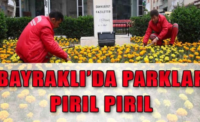Bayraklı'da Parklar Pırıl Pırıl