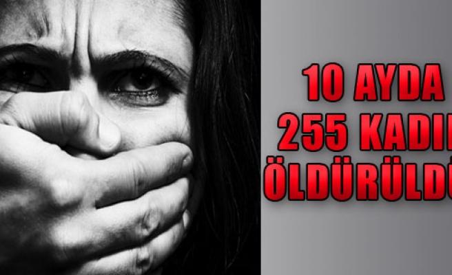 İlk 10 Ayda 255 Kadın Öldürüldü