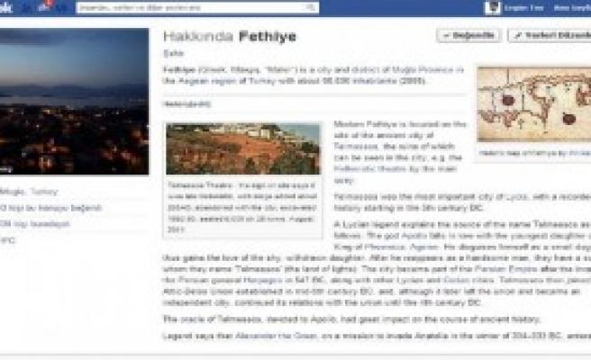 Facebook Fethiye'ye İsmini İade Etti