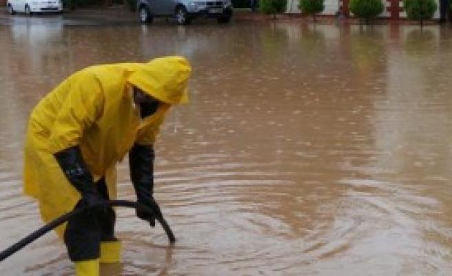 Fatsa'da Yağmur Etkili Oldu