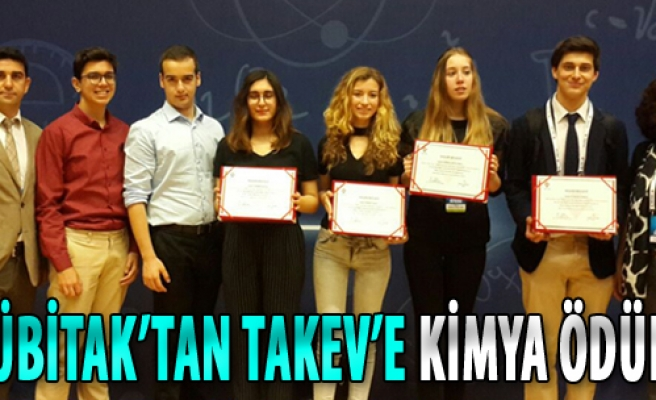 TÜBİTAK'tan TAKEV'e Kimya Ödülü