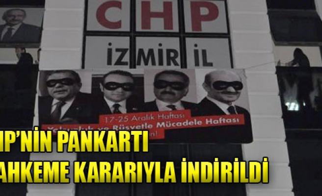 CHP'nin Pankartı Mahkeme Kararıyla İndirildi