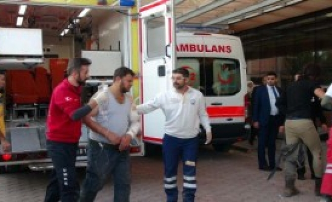 Yaralanan 10 ÖSO Askeri Kilis'e Getirildi