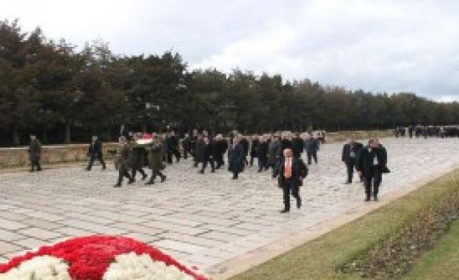 Fransa Cumhurbaşkanı Anıtkabir'de