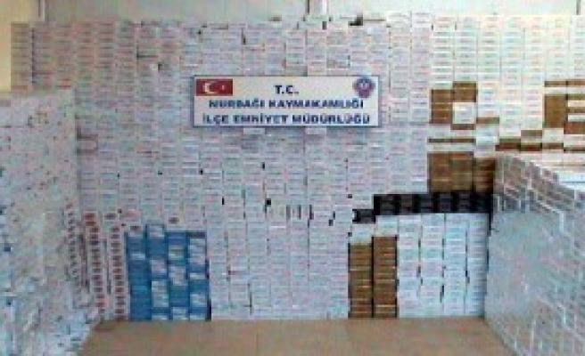 Gaziantep'te Kaçak Sigaraya 4 Gözaltı