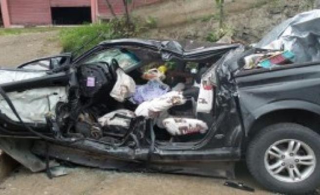Giresun'da Kaza: 1 Ölü, 1 Yaralı