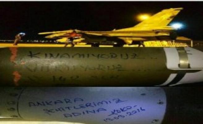 Bombaların Üzerinden PKK'ya Mesaj