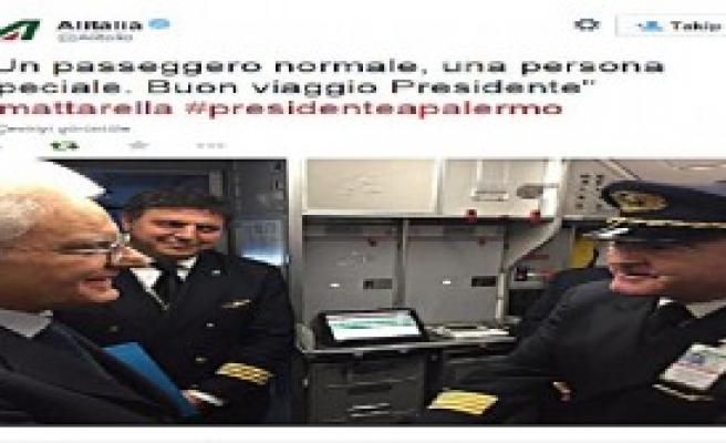İtalya Cumhurbaşkanı Bir İlke İmza Atarak Tarifeli Uçağa Bindi