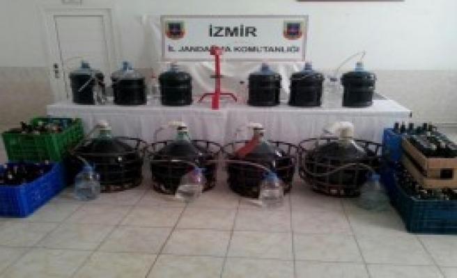 İzmir'de Sahte İçki Operasyonu