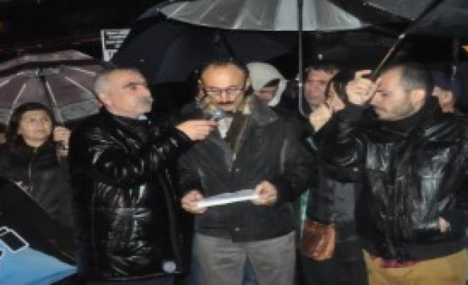 İzmir'de Tahir Elçi Protestosu