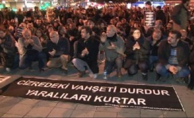 Kadıköy'de 'Cizre' Eylemi