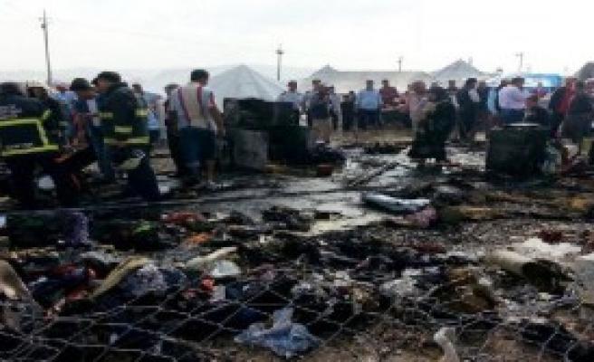 Kahramanmaraş Çadır Kentinde Yangın Paniği