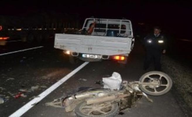 Motosikletin Sürücüsü Hayatını Kaybetti