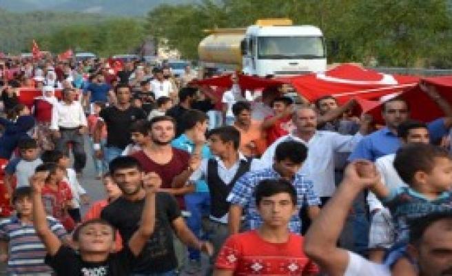 Karabük'te Teröre Protesto