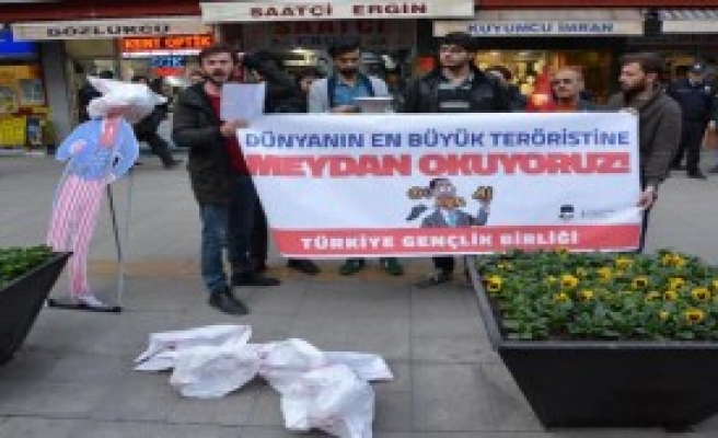 Karabük'te Obama Protestosu