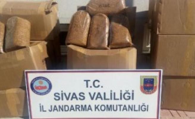 4 Ton Kaçak Tütün Ele Geçirildi