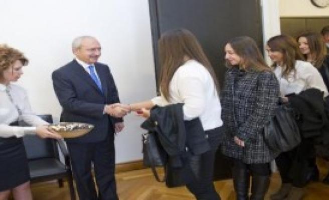 Kılıçdaroğlu, Üniversite Öğrencilerini Kabul Etti