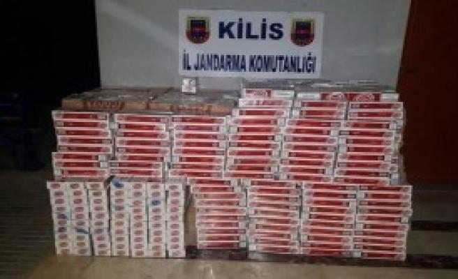 Kilis'te 11 Bin 990 Kaçak Sigara Ele Geçirildi