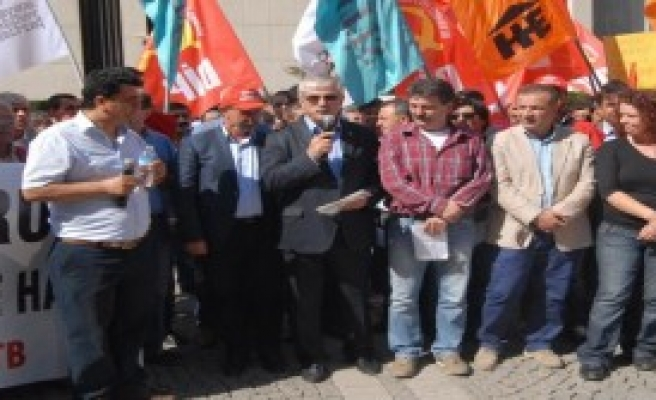 Kobani'ye Kesk'ten Ve Disk'ten Destek