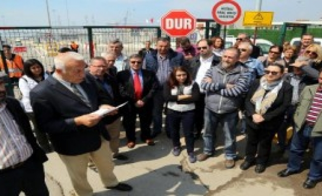 Kocaeli'de Dubai Port Limanı'na Kaçak Tepkisi