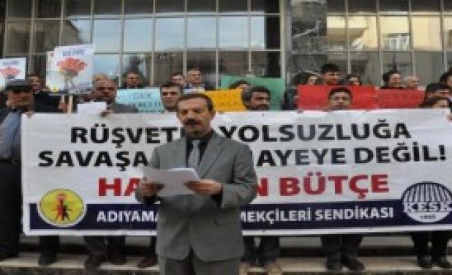 Maliye Bakanlığı Bütçesini Protesto Ettiler